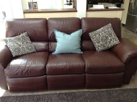 lay z boy sofa lay z boy full leather sofa parksville nanaimo