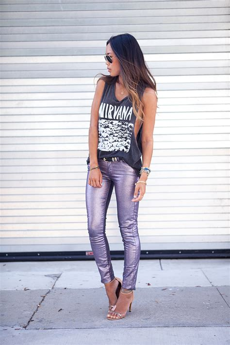 8 Ways To Wear Metallics by 8 Ways To Style Your Band T Shirt Ella Louise