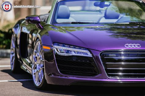 porsche purple audi audi r8 spyder velvet purple on hre p40sc show stopper