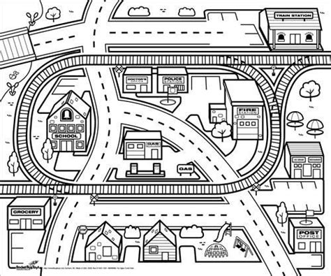 City Map Coloring Page   city map coloring pages lego pirate colouring pages