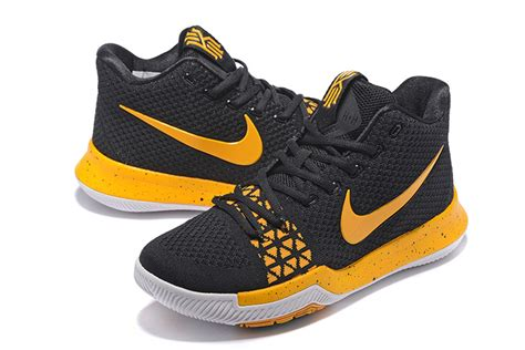 nike black and yellow basketball shoes nike kyrie 3 black yellow s basketball shoes hoop