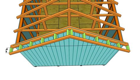 How To Build A Roof Build Shed Roof Overhang Greenhouse Plans Wood Frame