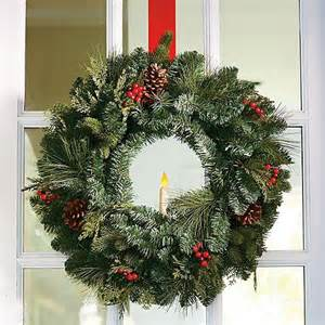 window wreaths classic window wreath with taper candle decor traditional