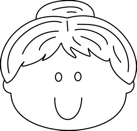 free blank boy face coloring pages