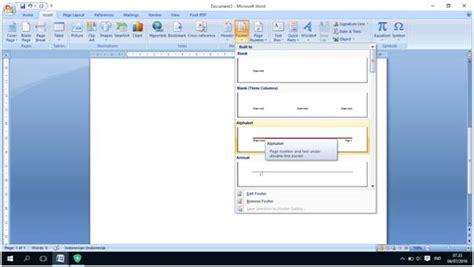 cara membuat halaman yang berbeda pada satu file word cara membuat nomor halaman yang berbeda pada satu file di