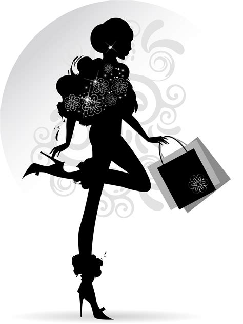 fashion illustration vector file fashion with shopping vectors 05 vector free