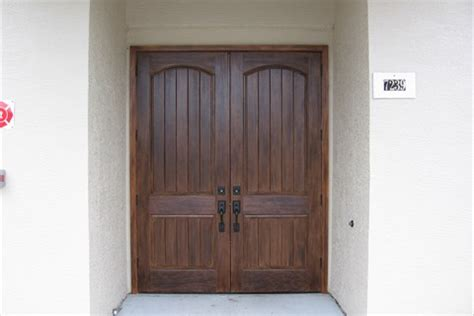 Wood Look Front Doors Wood Grain Finishes Custom Stain Texture Teak Chic Impression