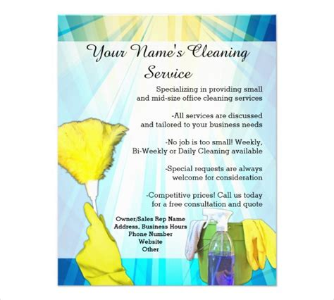 printable house cleaning flyers printable flyer templates 50 free psd vector ai eps