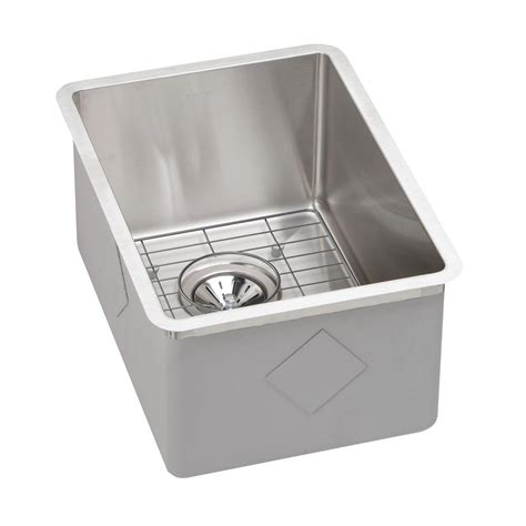 elkay crosstown undermount stainless steel 14 in bar sink