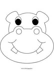mask hippo coloring