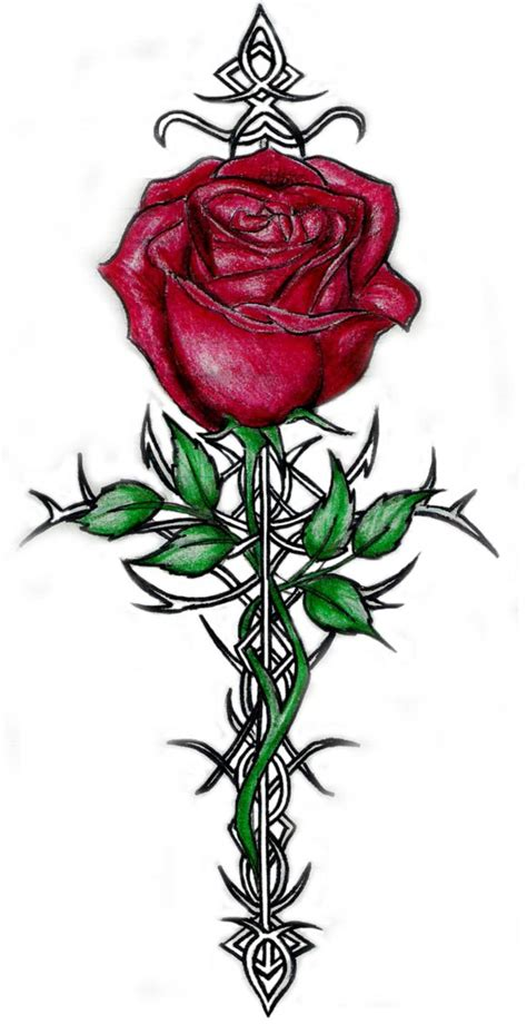 rose with thorns tattoos best 25 ideas on