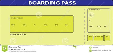 boarding pass printable boarding pass template