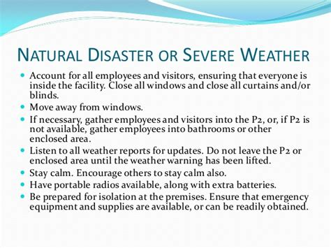 inclement weather policy template tabletop exercise means severe weather emergency response