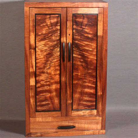custom wall cabinet custom wall mounted koa jewelry cabinet