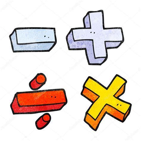 imagenes signos matematicos dibujos animados textura matem 225 ticas s 237 mbolos vector de