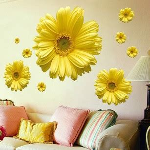 daisy home decor free shipping 1set yellow flowers decorative combination