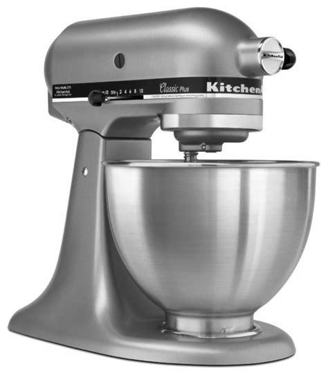kitchenaid silver ksmsl classic  tilt head  quart stand mixer contemporary mixers