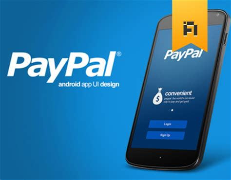 paypal for android paypal android app ui design on behance