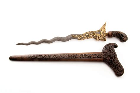 Indonesia Foe Sale kris knife wooden oceanic arts webb s formerly mossgreen webb s