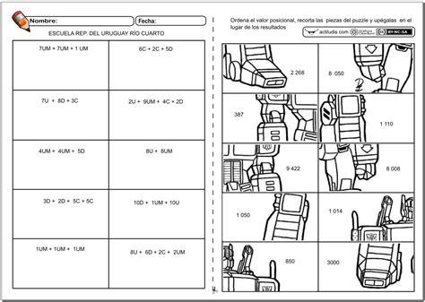 ejercicios de valor posicional para imprimir valor posicional actiludis