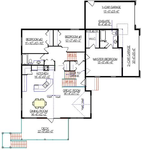 split level bungalow house plans
