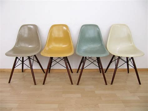 stuhl eames details zu 4x eames fiberglas chair stuhl dsw herman