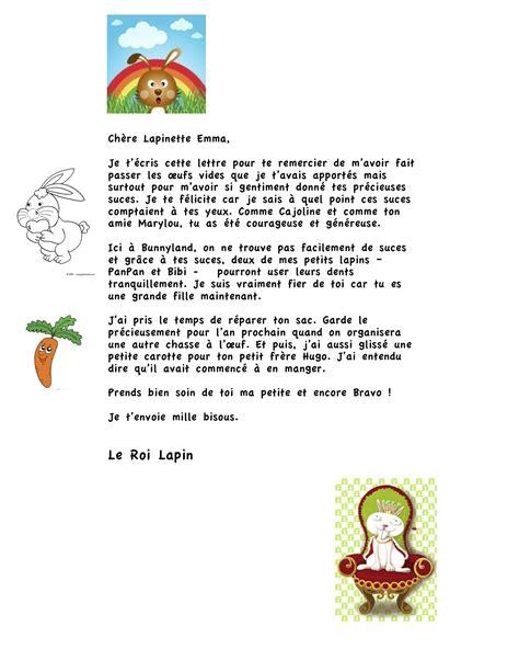 Exemple Lettre De Remerciement Garderie Et Le Roi Lapin Passa Par L 224 Encore Une Maman