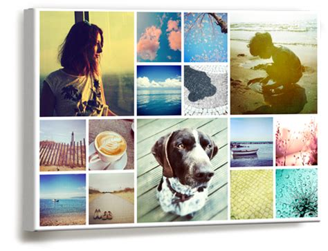 canva photo collage collage canvas prints wall art photobox