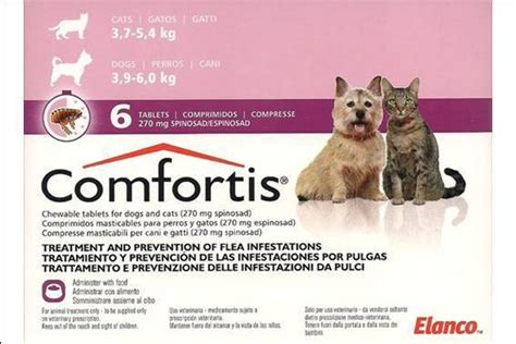 comfortis for puppies comfortis 270 mg for dogs 3 9 6 kg and cats 3 7 5 4 kg 6 tablets