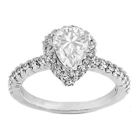 pear shaped engagement rings photodunia