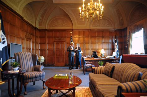 office of the secretary department of commerce file secretary john kerry shares a quiet moment with his