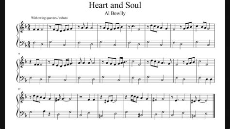heart and soul heart and soul easy piano sheet music no audio youtube