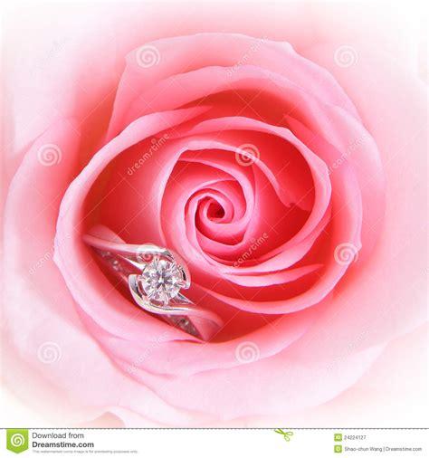 romantic pink rose  diamond wedding ring royalty