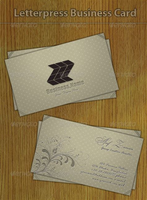 Letterpress Templates stunning exles of letterpress business cards 25