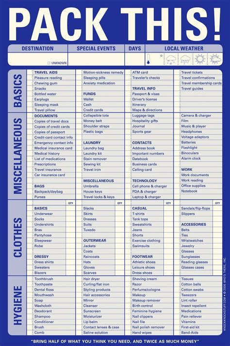 free printable cruise packing list don t forget anything and save