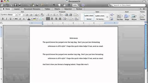 apa format hanging indent hanging indent microsoft word mac