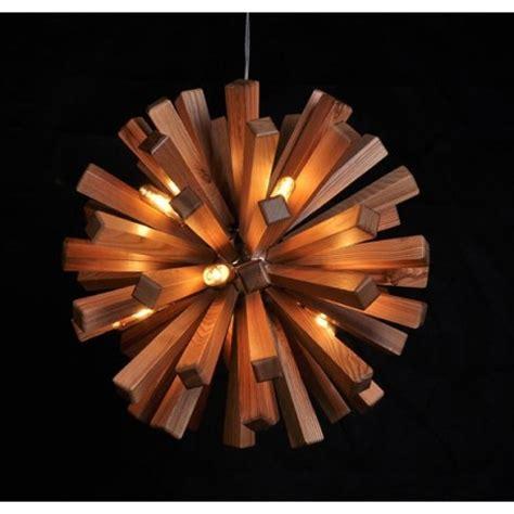 deckenleuchter holz suspension en bois design firework le en bois style