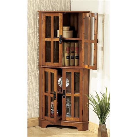corner living room cabinet mission corner cabinet 102260 living room at sportsman