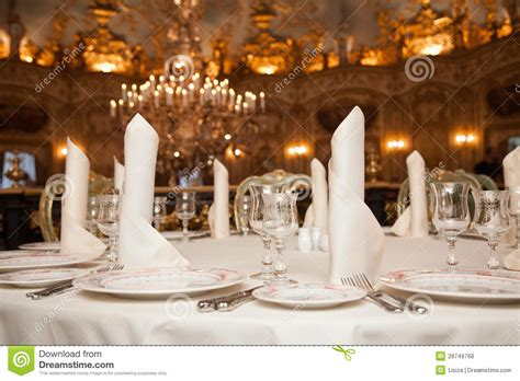 fancy place setting stock photo image of folded fancy restaurant dinner table place setting napkin wineglass
