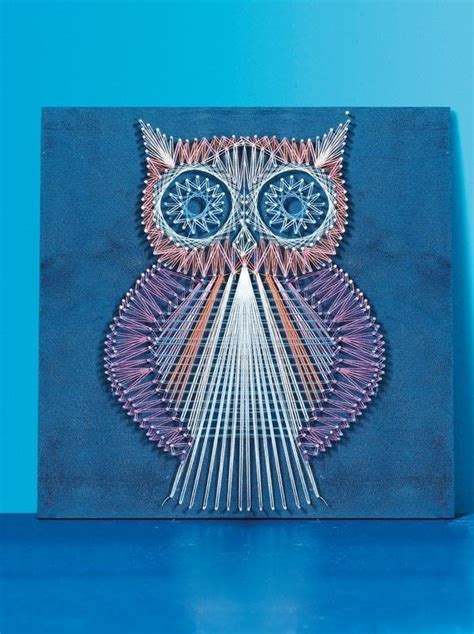 string art pattern owl string art owl 183 extract from string craft by lucy hopping