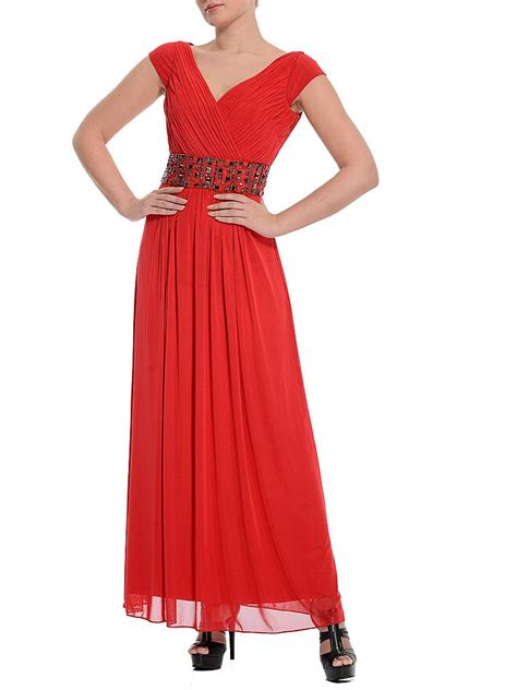 swing abendkleid lang swing abendkleid rot 36