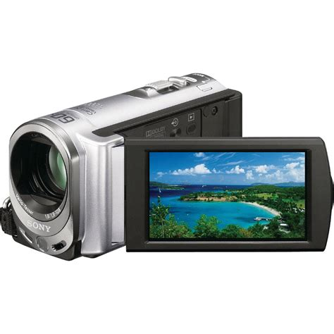 Handycam And sony dcr sx44 4gb handycam camcorder silver dcr sx44 b h photo
