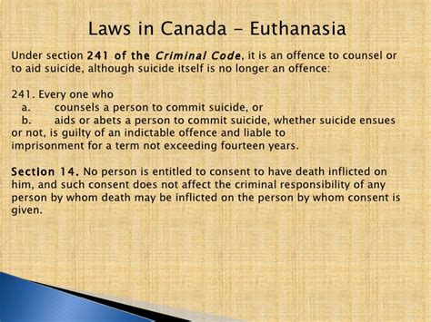 section 241 criminal code euthanasia