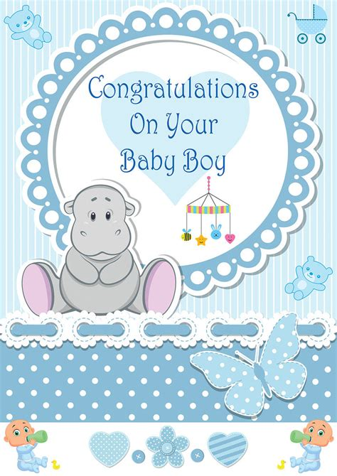 Congrats Baby Shower by Its A Boy Baby Boy Birth Banner Congratulations Its A Baby