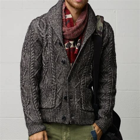 cable knit sweater mens fancy cable knit cardigan by ralph denim supply