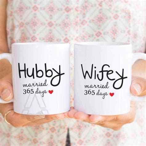 1 year wedding anniversary gift for him, couple coffee