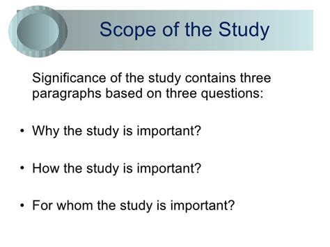 thesis study significance of thesis study phd thesis