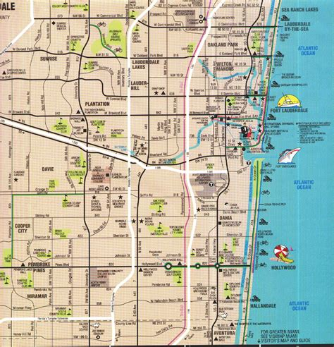 fort lauderdale map map of ft lauderdale florida travels gt