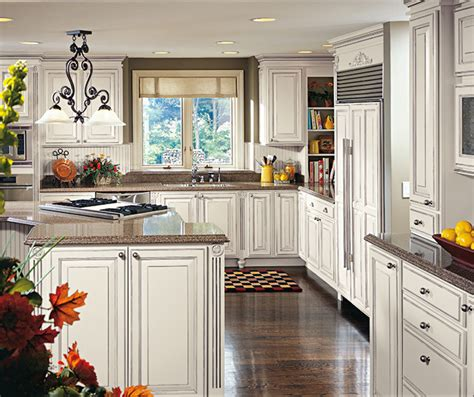 glazed white kitchen cabinets white glazed cabinets in traditional kitchen decora