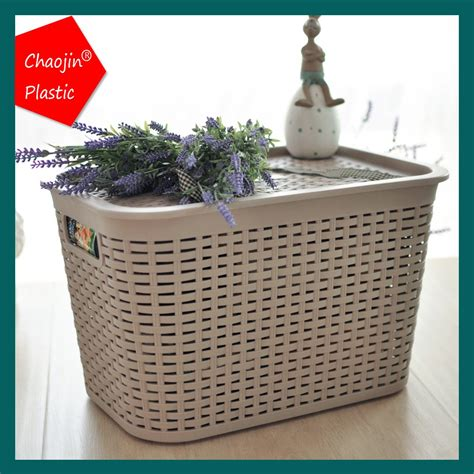 Laundry Basket In Bathtub by Rattan Look Laundry Tub Plastic Laundry Basket With Lid